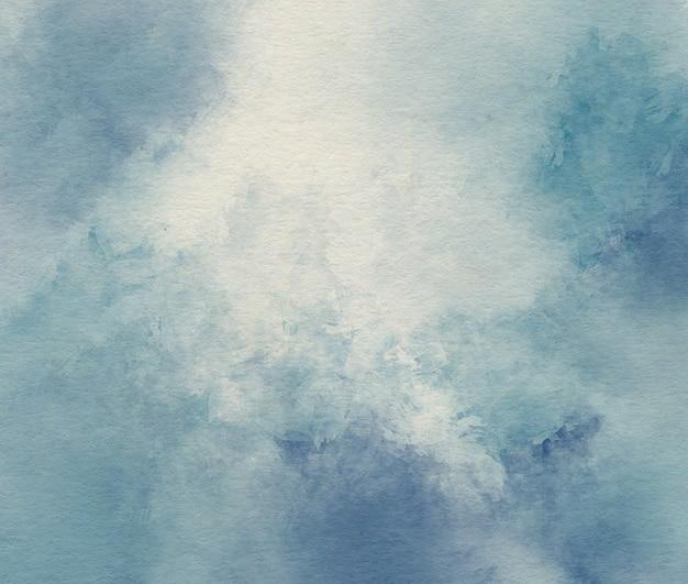 Blauwe aquarel abstracte achtergrond Premium Foto