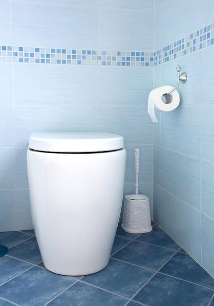 Blauwe badkamer Premium Foto