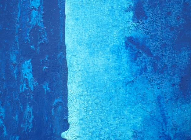 Blauwe donkere olieverfschilderijruimte en textuur abstracte achtergrond. Premium Foto