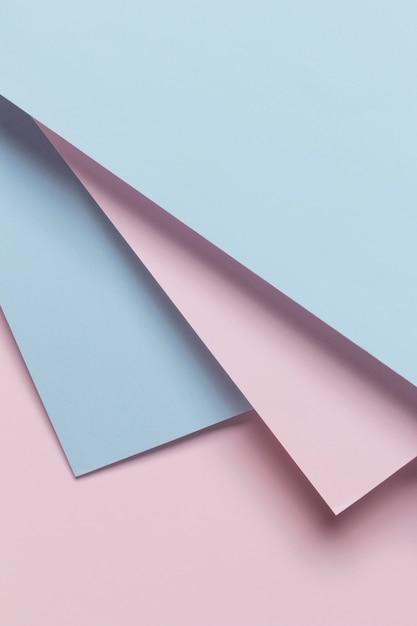 Blauwe en roze geomtrische kasten Gratis Foto