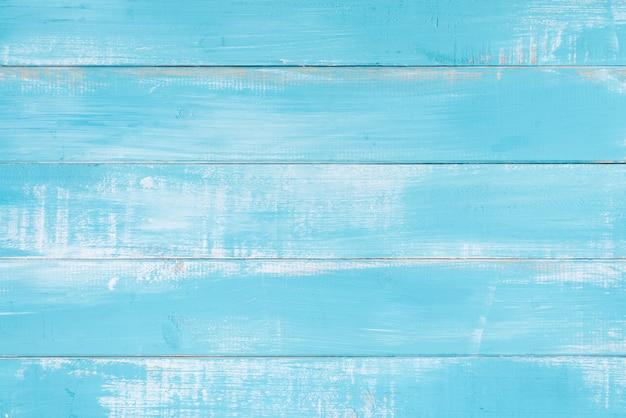 Blauwe houten textuuroppervlakte als achtergrond Gratis Foto