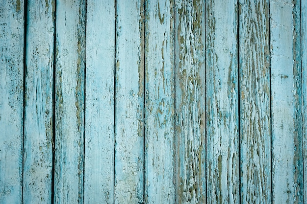 Blauwe houten textuuroppervlakte als achtergrond Premium Foto