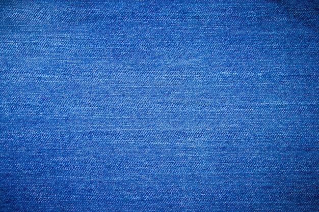 Blauwe jean textuur achtergrond Premium Foto