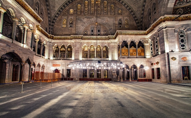 Blauwe moskee interieur Premium Foto