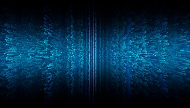 Blauwe pixel abstracte achtergrond Premium Foto