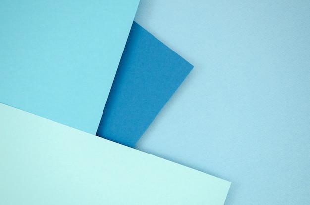 Blauwe tinten veelhoek papieren ontwerp Premium Foto