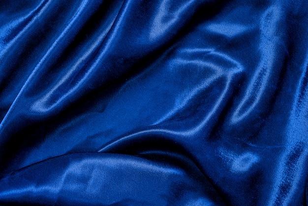 Blauwe van de stoffendoek textuur als achtergrond Premium Foto