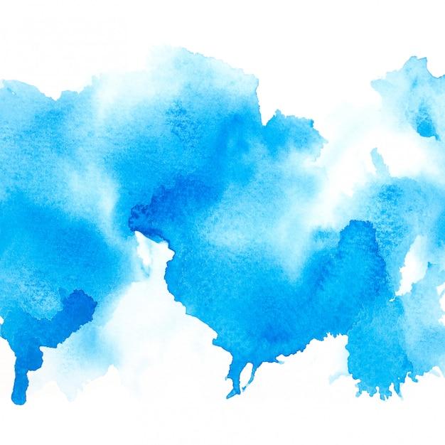 Blauwe waterverf Premium Foto