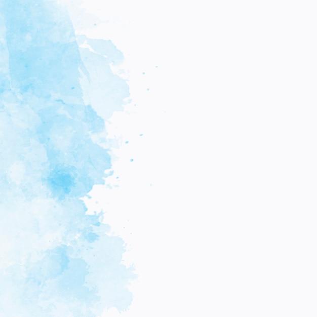 Blauwe waterverftextuur met copyspace aan het recht Gratis Foto