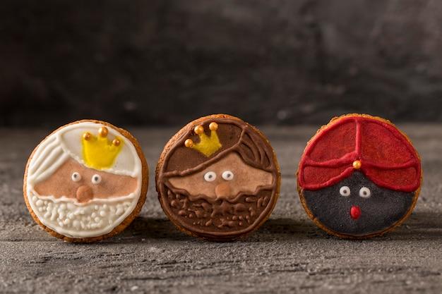 Blije epiphany smakelijke koekjes Gratis Foto