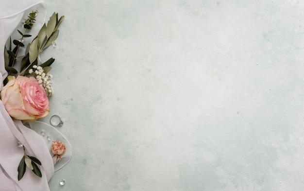 Bloemen versiering voor bruiloft Gratis Foto