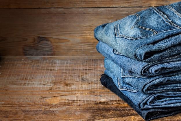 Blue jeans textuur voor de achtergrond Gratis Foto