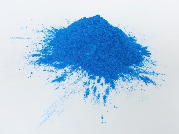 Blue mica pigment, cosmetisch poeder Premium Foto