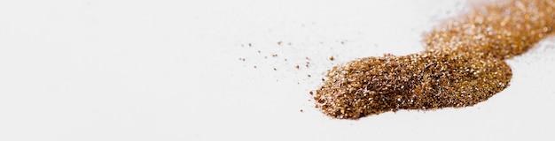 Bochtige lijn van gouden glitter Premium Foto