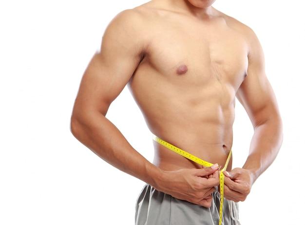Bodybuilders met perfecte buikspieren Premium Foto