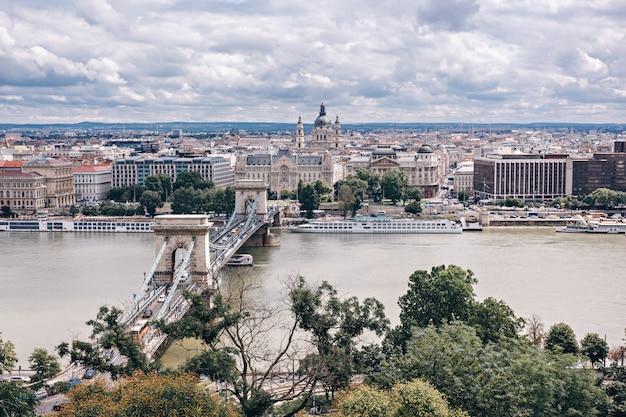 Boedapest panorama, hongarije Premium Foto