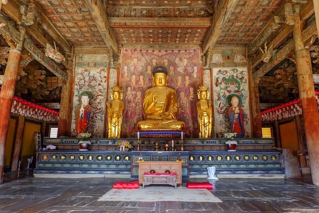Boeddhabeeld bij de bulguksa-tempel Premium Foto