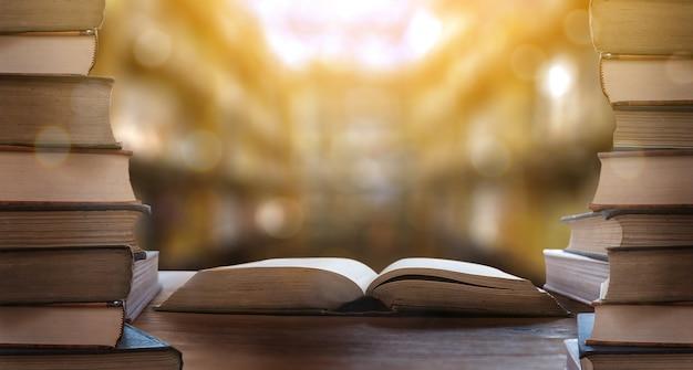 Boek de bibliotheekkamer Premium Foto
