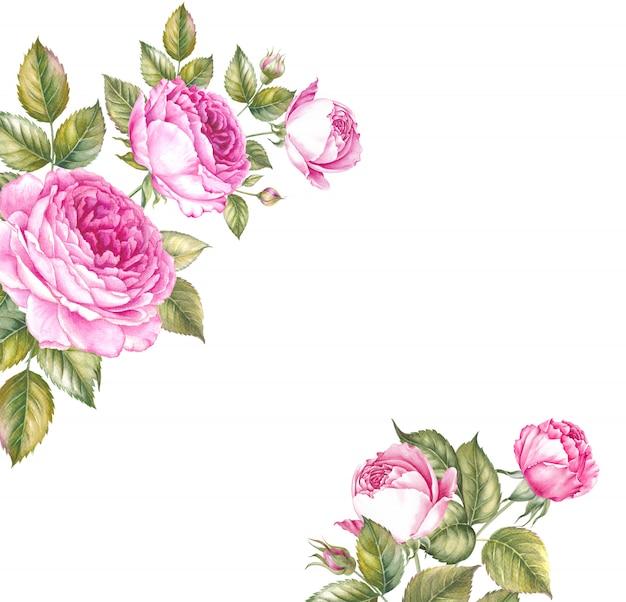 Boeket rozen bloemen. Premium Foto