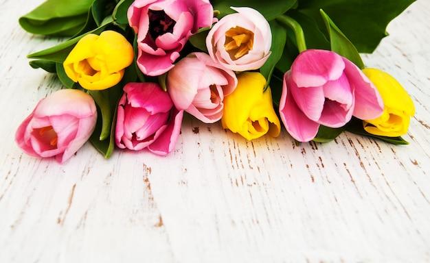 Boeket tulpen Premium Foto