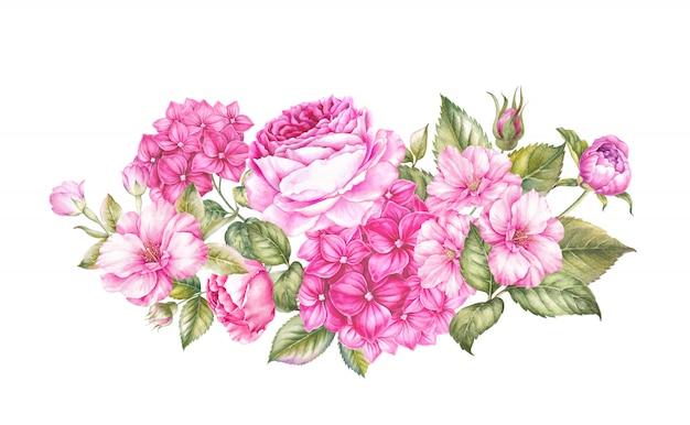 Boeket van geïsoleerde lentebloemen Premium Foto