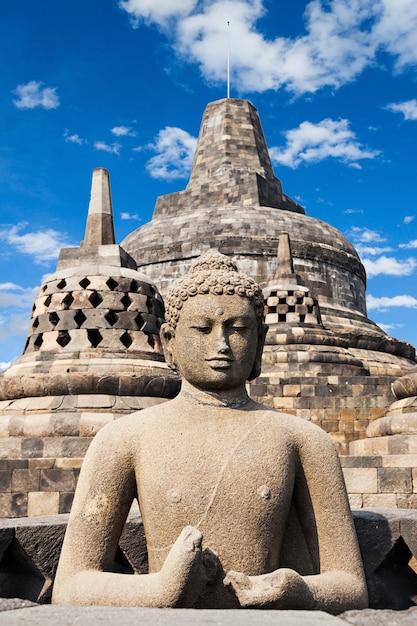 Borobudur-tempel Premium Foto