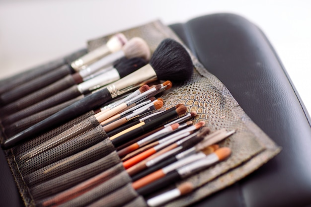 Borstels make-up artiest Premium Foto