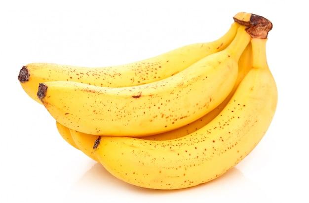 Bos van rijpe banaan geïsoleerd Premium Foto