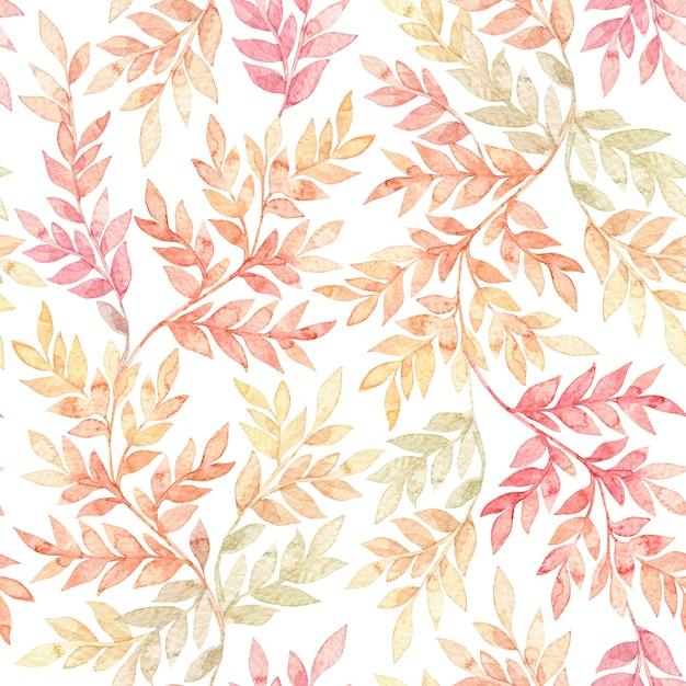 Botanische aquarel naadloze patroon Premium Foto