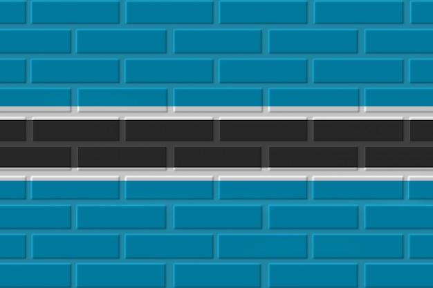 Botswana baksteen vlag illustratie Premium Foto