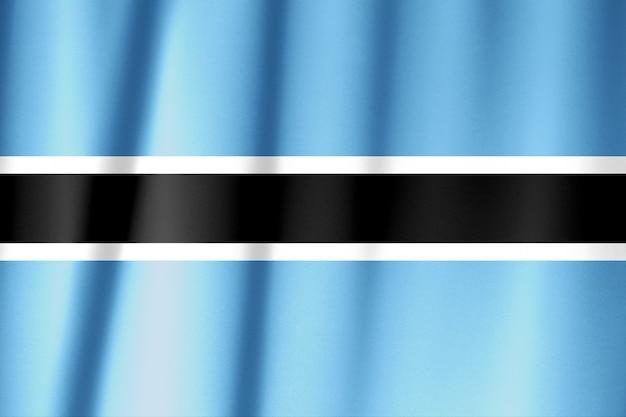 Botswana vlagpatroon op de stoffentextuur Premium Foto
