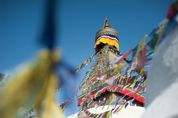 Boudhanath stupa in de vallei van kathmandu, nepal Premium Foto
