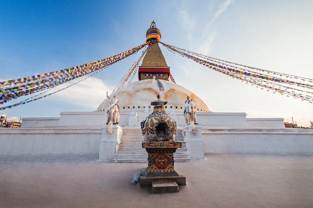 Boudhanath stupa, kathmandu Premium Foto