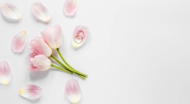 Bovenaanzicht bloeiende bloemen Gratis Foto