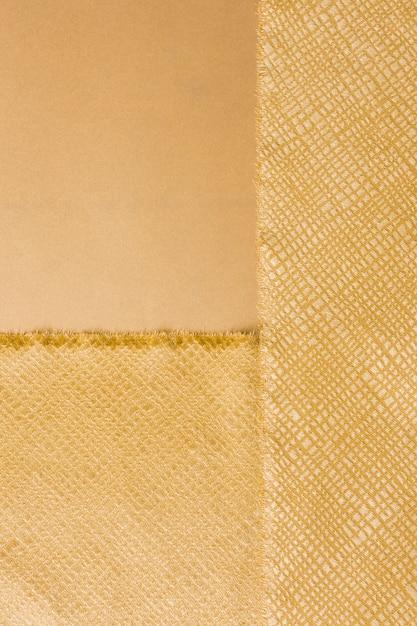 Bovenaanzicht elegant gouden materiaal Gratis Foto