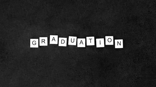 Bovenaanzicht feestelijke afstuderen arrangement met letters op kubussen Gratis Foto