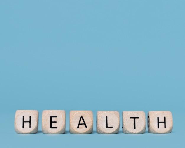 Bovenaanzicht gezondheidsstilleven met kopie ruimte Gratis Foto