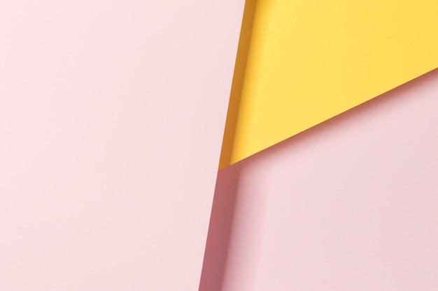 Bovenaanzicht kleurrijke papieren kast ornament Gratis Foto