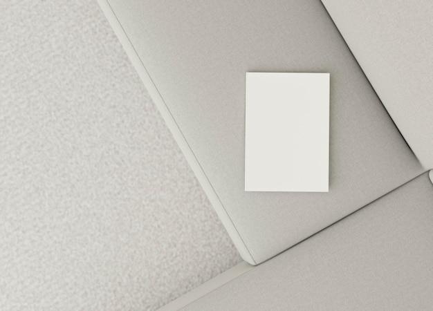Bovenaanzicht minimaal interieur bankontwerp Gratis Foto