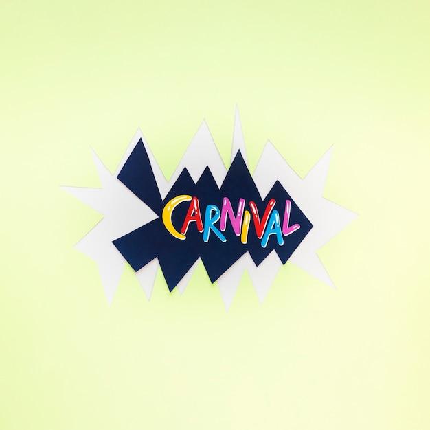 Bovenaanzicht van carnaval op papier uitgesneden Gratis Foto