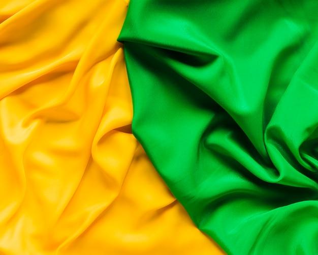 Bovenaanzicht van carnaval textiel in twee kleuren Gratis Foto