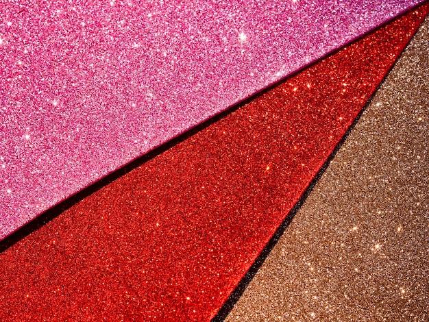 Bovenaanzicht van glitter texturen Gratis Foto