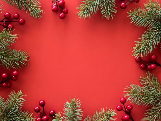 Bovenaanzicht van kerst concept met kopie ruimte Gratis Foto