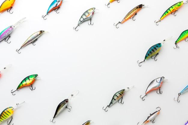 Bovenaanzicht van kleurrijke vis aas Gratis Foto
