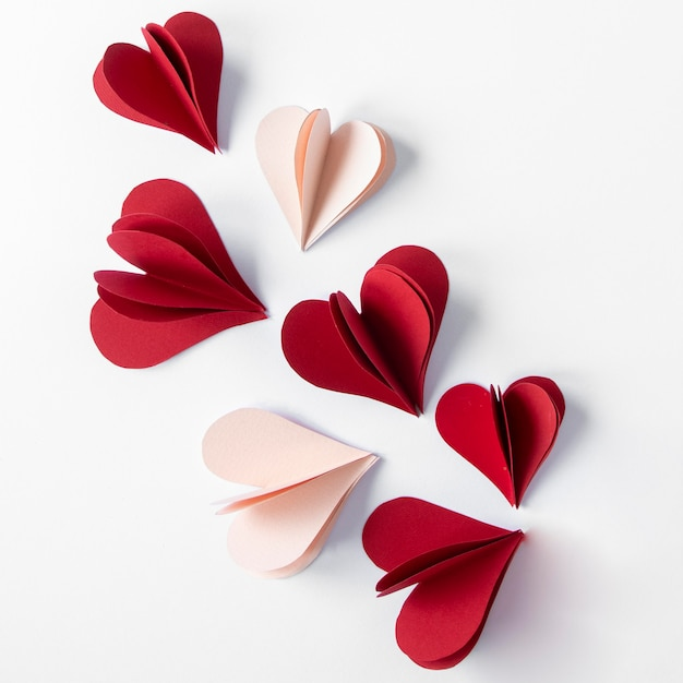 Bovenaanzicht van mooie valentijnsdag concept Gratis Foto