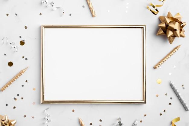 Bovenaanzicht van mooie verjaardag concept Premium Foto