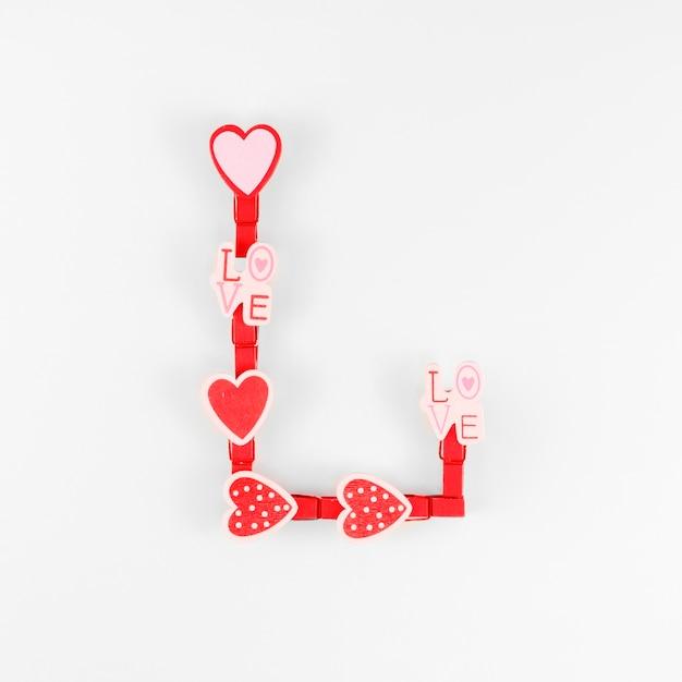 Bovenaanzicht van valentijn concept Gratis Foto
