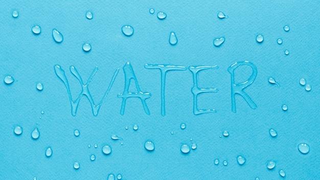 Bovenaanzicht van water met druppels Gratis Foto