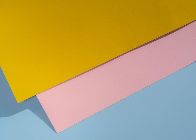 Bovenaanzicht veelhoek papieren ontwerp Gratis Foto