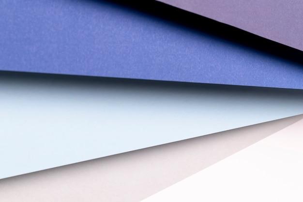 Bovenaanzicht verschillende tinten blauw patroon Gratis Foto
